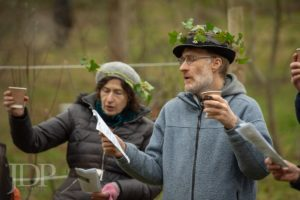 Singers raising a toast to the apple trees
